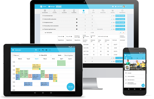 Sportlyzer team management and player development software